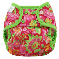Blueberry Capri Nappy Wrap: Pink Butterfly Garden