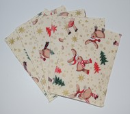 5-Pack Medium Nappy Wipes: Festive Reindeer