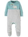 40% OFF! Frugi Bonnie Babygrow: Spring Blue/Elephant