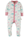 50% OFF! Frugi Darling Babygrow: Little Whale  Tiny NB 6-12m