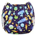 NEW! Blueberry Onesize Organic Cotton Simplex: Space