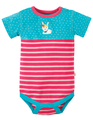 50% OFF! Frugi Percy Panelled Body: Bunny  NB 0-3 3-6m
