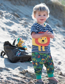 50% OFF! Frugi Parsnip Pants: Jungle Safari  0-3m
