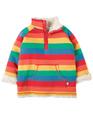 NEW! Frugi Little Snuggle Fleece: Rainbow Stripe