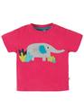 50% OFF! Frugi Little Polkerris Applique Tshirt: Ellie 0-3m