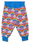6-9m Cuff Pants: Lilac Rainbows