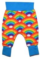 6-9m Harem Pants: Bright Rainbows
