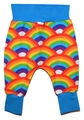 6-9m Harem Pants: Bright Rainbows