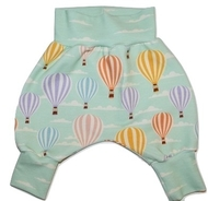 0-3m Harem Pants: Hot Air Balloons