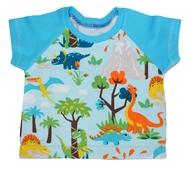 0-3m Raglan Tshirt: Dino