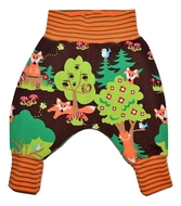 3-6 Months Harem Pants: Woodland Fox
