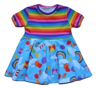 3-6m Circle Dress: Rainbows and Bears