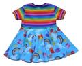 3-6m Circle Dress: Rainbows and Bears
