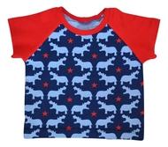 3-6m Raglan Tshirt: Hippos