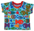 3-6m Raglan Tshirt: Upside-Down Fish