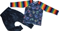 3-4yrs Long Sleeved Tshirt: Rainbow Skulls