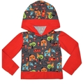 18-24m Long Sleeved Hooded Tshirt: Fire Engine