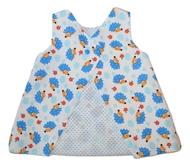 9-12m Open Back Dress - Hedgehog