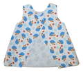 9-12m Open Back Dress - Hedgehog