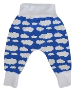 9-12m Harem Pants: Clouds