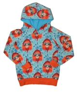 4-5yrs Hoodie: Cool Baboon Turquoise