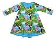 6-9m Tshirt Dress: Baby Deer