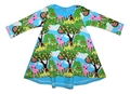 6-9m Tshirt Dress: Baby Deer