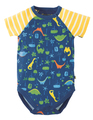 50% OFF! Frugi Reggie Raglan Body: Jurassic Jungle