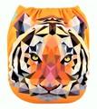 Alva Baby Onesize Nappy: Tiger