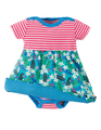 50% OFF! Frugi Boat Neck Body Dress: Daisy Chipmunks 0-3 3-6